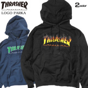 THRASHER パーカー スラッシャー スウェットパーカー メンズ ロゴ プリント スエット 裏起毛 THRASHER-083