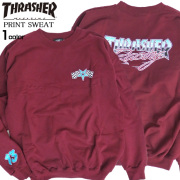 THRASHER トレーナー スラッシャー スウェット メンズ ロゴ クルーネック スエット 裏起毛 THRASHER-084