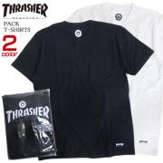 THRASHER 半袖Tシャツ パック入り Tシャツ 2枚セット 半袖トップス メンズ セットアイテム THRASHER-090