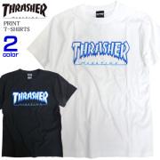 THRASHER Tシャツ アイスロゴ 半袖Tシャツ メンズ 半袖トップス クルーネック THRASHER-094