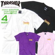 THRASHER Tシャツ スラッシャー 半袖Tシャツ ファイヤーロゴ プリントTシャツ クルーネック THRASHER-097