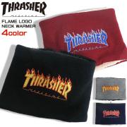 THRASHER ネックウォーマー フレイムロゴ刺繍 スヌード ボア メンズ スラッシャー 雑貨 THRASHER-1041