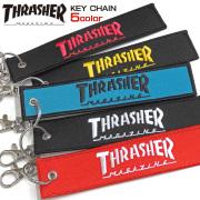THRASHER キーホルダー ロゴテープ キーチェーン スラッシャー ロゴ刺繍 バッグチャーム THRASHER-1044