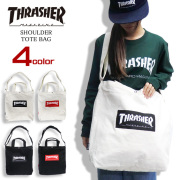 THRASHER バッグ ロゴプリント トートバッグ スラッシャー ショルダーバッグ マグロゴ THRASHER-THC803