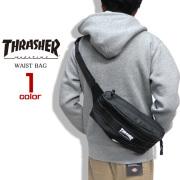 THRASHER ウエストバッグ リフレクター付き ボディバッグ メンズ カバン THRASHER-THREX200