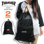 THRASHER バッグ メッシュ ナップサック スラッシャー リュックサック マグロゴ THRASHER-THRMS4500