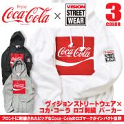 コカ・コーラ パーカー VISION プルオーバーパーカー スウェット Coca-Cola ボックスロゴ VISION-118