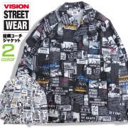 VISION ジャケット 総柄 コーチジャケット ヴィジョンストリートウェア メンズ ビジョン ブルゾン VISION-136