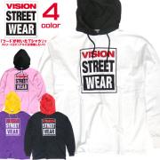 VISION STREET WEAR パーカー ヴィジョン プルオーバーパーカー ゆったりめ Tシャツ VISION-141
