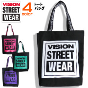 VISION バッグ ロゴテープ トートバッグ ヴィジョンストリートウェア マグロゴ トート 鞄 メンズ カバン VISION-VSJQ800