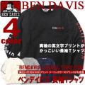 BEN DAVIS Tシャツ 長袖 ベンデイビス 袖プリント Tシャツ メンズ 長袖Tシャツ 英文字プリント BEN-1036