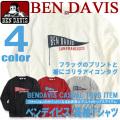 BEN DAVIS 長袖 Tシャツ ベンデイビス Tシャツ メンズ 長袖Tシャツ フラッグ プリント Tシャツ BEN-1037
