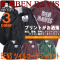 BEN DAVIS コーチジャケット 袖ロゴ プリント ベンデイビス ジャケット メンズ アウター ナイロン地 BEN-1081