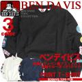 長袖Tシャツ ベンデイビス メンズ BEN DAVIS Tシャツ 袖プリント ベンデイヴィス ワッペンプリント BEN-1084