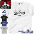 BEN DAVIS Tシャツ ロゴプリント 半袖Tシャツ メンズ ブランドロゴ 筆記体 プリント ベンデイビス BEN-1140
