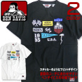 BEN DAVIS Tシャツ ステッカープリント 半袖Tシャツ ロゴ プリント ベンデイビス メンズTシャツ BEN-1173