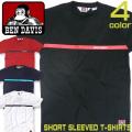 BEN DAVIS Tシャツ ベンデイビス ラインロゴプリントTシャツ メンズ 半袖Tシャツ ゴリラタグ BEN-1180