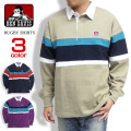 BEN DAVIS シャツ 切り替え ラガーシャツ メンズ 長袖シャツ ベンデイビス ラグビーシャツ トップス BEN-1223