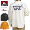 BEN DAVIS ワークシャツ 刺繍 長袖シャツ メンズ トップス ベンデイビス チェーン刺繍 綿素材 BEN-1239