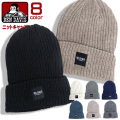 BEN DAVIS ニット帽 ブランドタグ ニットキャップ ベンデイビス 帽子 ニット リブ編み ニットワッチ BEN-1265