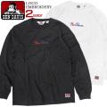 BEN DAVIS Tシャツ ロゴ刺繍 長袖Tシャツ メンズ ロンT ベンデイビス ロゴネーム 刺繍 ベンデビ BEN-1286