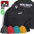 BEN DAVIS ジャケット ロゴプリント コーチジャケット メンズ ライトアウター ベンデイビス アウター BEN-1292