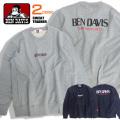 BEN DAVIS トレーナー ロゴプリント スウェット メンズ ベンデイビス トップス スエット 袖ロゴ  BEN-1305