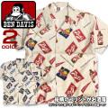 BEN DAVIS 半袖シャツ 総柄プリント オールオーバーシャツ ベンデイビス メンズ ゴリラアイコンタグ BEN-962