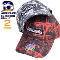 DUCK DUDE キャップ 総柄 ベースボールキャップ メンズ レディース ダックデュード アヒル プリント 帽子 DUCKDUDE CAP-055