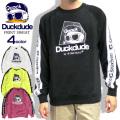 DUCK DUDE スウェット ダックデュード トレーナー メンズ アヒルプリント ロゴテープ 微裏起毛 CSL-119