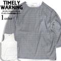 Timely Warning アンサンブル カットソー メンズ トップス チェック柄 セット タンクトップ CSL-126