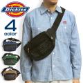 Dickies ウエストバッグ メッシュポケット ボディバッグ ディッキーズ カバン ロゴプリント DICKIES-576