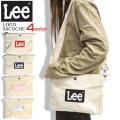 Lee サコッシュ ボックスロゴ ショルダーバッグ リー サコッシュバッグ コットン地 カバン メンズレディース LEE-027