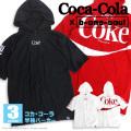 コカ・コーラ パーカー Coca-Cola 半袖パーカー ワイドシルエット b-one-soul コラボアイテム PKL-302