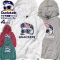 DUCK DUDE パーカー アヒルワッペン スウェットパーカー メンズ ダックデュード サガラ刺繍 スエット PKL-325