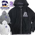 DUCK DUDE パーカー アヒル刺繍 ジップアップパーカー メンズ ダックデュード 袖ロゴ ビーワンソウル PKL-327