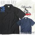 KAILUA BAY 半袖シャツ ガイコツ刺繍 カイルアベイ オープンカラーシャツ メンズ 胸ポケット トップス SY-003