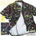 KAILUA BAY 半袖シャツ メンズ 柄シャツ カイルアベイ 胸ポケット ALL OVER SHIRTS 総柄 SY-014