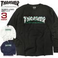 THRASHER Tシャツ ローズ ロゴ 長袖Tシャツ ROSES スラッシャー メンズ ロンT 薔薇 THRASHER-015