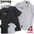 THRASHER シャツ ロゴ刺繍 スラシャー 半袖シャツ 刺繍 トップス スケーター系 THRASHER-020