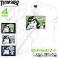 THRASHER Tシャツ BoyFriend 半袖Tシャツ スラッシャー メンズ イラストプリント THRASHER-021