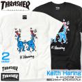 THRASHER Tシャツ キースヘリング  半袖Tシャツ メンズ Keith Haring イラスト THRASHER-022