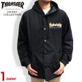 THRASHER ジャケット ロゴプリント コーチジャケット フレームロゴ スラッシャー ジャケット THRASHER-035