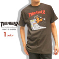 THRASHER Tシャツ イラスト 半袖Tシャツ メンズ スラッシャー イラスト プリント トップス THRASHER-045