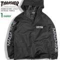 THRASHER アノラックパーカー ハーフジップ マウンテンパーカー メンズ スラッシャー ロゴ刺繍 THRASHER-065