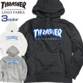 THRASHER パーカー アイスロゴ スウェットパーカー メンズ スラッシャー ロゴ 裏起毛 THRASHER-075