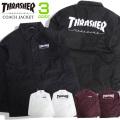 THRASHER ジャケット ロゴ刺繍 コーチジャケット メンズ スラッシャー ナイロンブルゾン THRASHER-085