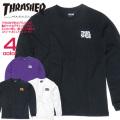 THRASHER Tシャツ 胸ポケット付き スラッシャー 長袖Tシャツ メンズ ロンT プリントT THRASHER-091