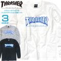 THRASHER Tシャツ ロンT スラッシャー 長袖Tシャツ クルーネック アイスロゴ プリントT THRASHER-098
