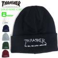THRASHER ニット帽 スラッシャ 帽子 ロゴ刺繍入り メンズ スケーターブランド THRASHER-1005